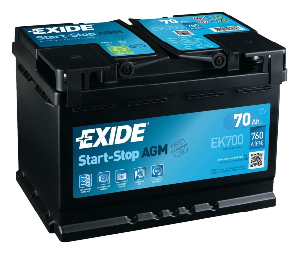 Exide Start-Stop AGM EK700
